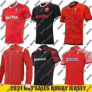 2020 2021 웨일즈 럭비 저지 20 21 홈 어웨이 트레이닝 웨일스 어 사이즈 S-5XL 셔츠 maillot de rugby National Rugby League
