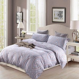 Duvet Set Bohemian Print Lightweight Soft 3PC Bedding Set with Pillow Case Bedding Bohemian Home Textiles