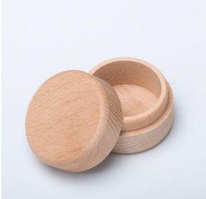 Small Round Wooden Storage Box Ring Box Vintage decorative Natural Craft Jewelry box Case Wedding Accessories
