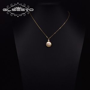 GLSEEVO Natural Baroque Freshwater Pearl Pendant Necklace Classic Style Simple 925 sterling silver Luxury Jewelry GN0253 Z1126