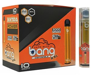 NEW Bang XXL Disposable Vape Pen Device 800mAh Battery 6ml Pods Empty Vapors 2000 Puffs Bang XXtra Vape Kit
