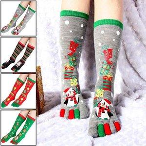 Fashion Christmas Toe Socks Santa Claus Regalo Bambini Unisex Xmas Divertente Cartoon Calzini stampati Lady Donne Santa Calze Sox 20201
