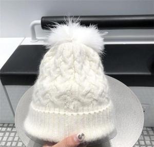 New Winter Womens Hat Casual Solid Fur Pompom Hat Female Cap Warm Cotton Women wmtDvU dayupshop