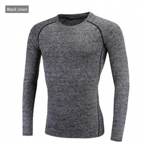 Autumn and winter outdoor sports men long - sleeved sports quick - drying. Tight fit fitness suit T-shirt. Has a strong elasticity, you dese