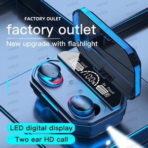 A16 A17 TWS Wireless Bluetooth Headphones LED Display Waterproof IPX7 Music Earphone For Iphone Huawei Oppo Xiaomi Sport Headset