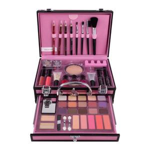 Professional Makeup набор 2 Lyer чемодан макияж набор губной помады кисточка для глаз для ногтей набор косметика для век для теней