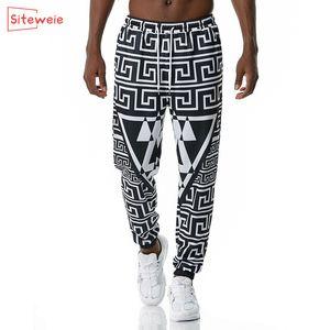 SiteWeie Vintage Sweetpants Men 3D Impreso Indian Streetwear Hombres Pantalones Lápiz Pantalones Casual Longitud completa Joggers Pantalones deportivos G471 1116