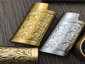 Armatura metallica Accendino Accendino Gas Shell Arabesque Hollow Carving J5 Accendino Caso Generale Plastica Protezione del corpo Protezione Accendino Jllyyy BDEBAG
