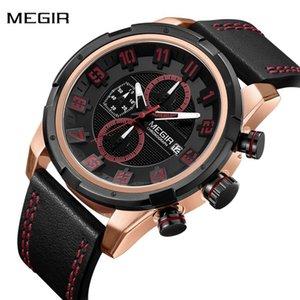 New Fashion MEGIR Watch Men Chronograph Sport Watch Mens Watches Top Auto Date Waterproof Clock horloges mannen