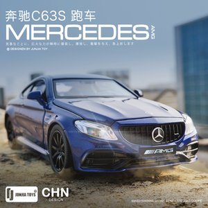 Simulation 1   32 Benz c63s AMG sedan alloy children's toy open door car model