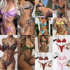 Mulheres mais recentes Swim Wear Wear Suits Nadar Sexy Swimsuit Swimwear Impressão Push Up Biquini Set Senhora Senhora Moda Moda Verão Beach Beach bikinis Color # 3