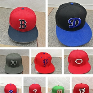 2020 New hot sale Fitted Hats For Men Women Hip Hop Letter DB LA Baseball Caps Bone Closed Gorra Caps Large Size 7 to size 8 Y1220