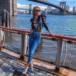Fashion New Faux PU Slim Jacket Fashion Ladies Leather Windproof Coat Sexy Long Sleeve Black Zipper Jackets