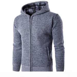 Autumn winter men's warm knit sweater young men's hoodie and hoodie knitwear sports jacket sport for run