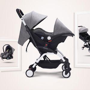 High-view baby stroller Lightweight baby sleeping basket Safe carrying basket Portable car seat pocket Umbrella stroller 3-in-1