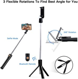 10PCS 3 in 1 Wireless Bluetooth Selfie Stick Foldable Extendable Handheld Monopod Mini Tripod With Shutter remote For iphone ZY-07