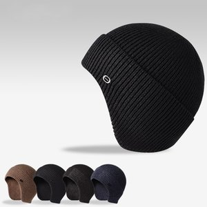 Men Pure Color Beanie Outdoors Cold Proof Cycling Skiing Thickening Keep Warm Elastic Knitted Hat Fashion Accessories 13 8gx J2