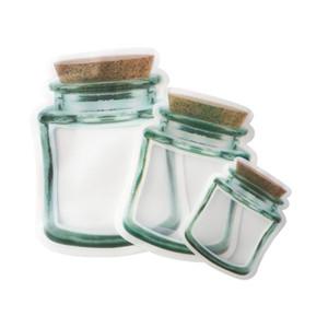 Reusable Mason Jar Bottles Bags Nuts Candy Cookies Bag Seal Fresh Food Storage Bag Snacks Zipper Sealed Kitchen Organizer