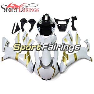 Motorcycle ABS Bodywork For R1 15 16 17 18 19 YZF1000 2015 2016 2017 2018 2019 YZFR1 Complete Fairings Kit White Gold Decals