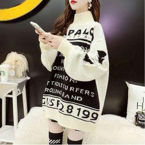 Осень / зима снег сезона женской одежды 2020 женский трикотаж высокого качества дизайнер свитера дамы свитер классический средне-