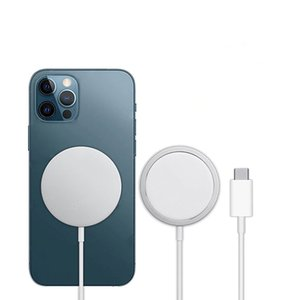 2021 MS Wireless Charger For iP 12 11Fast Charger 15W Aluminum Magnet Qi New Wireless Charger