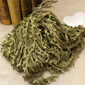 10m / rolo de corda de cânhamo puro folhas Rattan sala de estar casa decoração rústica vintage casamento / garrafa de vidro decoração presente de embrulho HHE3380