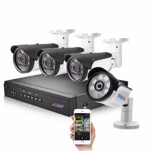 BesSder Home Security CCTV Sistema POE 8CH 4CH 1080P POE Kit de câmera Full HD 1080P NVR Kit Até 150m Distância 20m Cabos