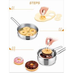 Creativo DIY Donut Donut Stampo Torta Decorating Strumenti Plastica Dessert Dolci Bread Maker Maker Forniture per cottura Forniture da cucina Utensili da cucina EEF4316