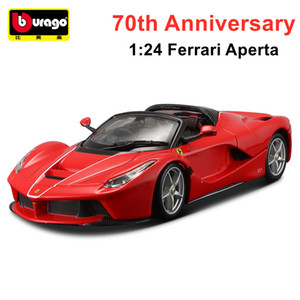 Bburago 1:24 Racing Sports Car Static Die-casting Car 70th Anniversary Collection Model Car Toy Gift