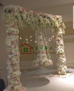 Artificial arch flower row table Flower runner centerpiece Wedding decorative backdrop wholesale David Austin rose