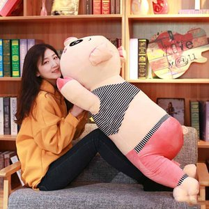 Giant Stuffed Pig Plush Doll Piggy Big Sleeping Kawaii Toy Pillow Pillows Birthday Gift Decoration 47inch 120cm Fuovl