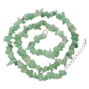Handmade Jewelry for Women Wedding African Chips Beads Crystal Bridal Natural Green Aventurine Stone Chain Gift Accessories A927