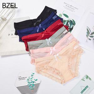 BZEL Sexy Underwear Women Set Lace Side Silk Panties For Women Breathable Women's Lingerie Plus Size Thong Briefs For Women 2020