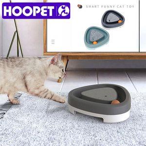 Hoopet Elektronik Etkileşimli Elektrik Pikap Topu Otomatik Pet Charmer Kedi Komik Oyuncak için 201217