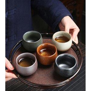5pcs Ceramic Drinkware Teaware Chinese Kungfu Tea Set Teacup Sake Cups 50ml-100ml Master Cup Small Tea Bowls Decor jllfFQ
