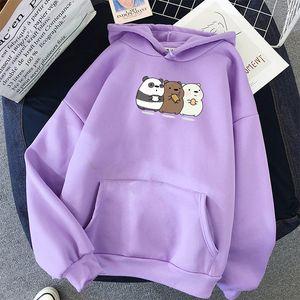 Women Men Anime Bears Printed Cute Hoodie Tops Oversize Sweatshirts Coat Long Sleeve for Autumn Winter Streetwear Pullovers