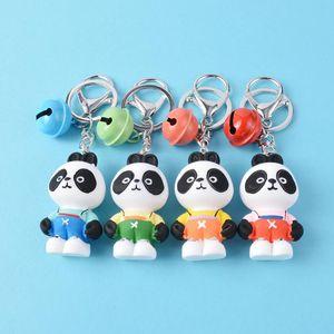 Cute Animal Keychain Creative Cartoon Panda Key Chain Kawaii Doll Keyrings for Women Bag Charm Pendant Car Key Ring Wholesale