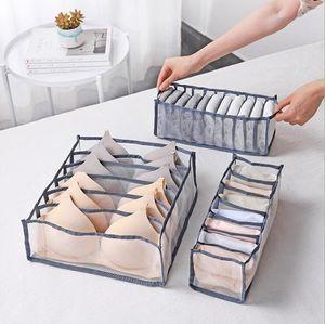 Thicker Underwear Drawer Organizers Divider Set Home Foldable Bra Sock Lingerie Panties Underwear Organizer Storage Box Home Storage