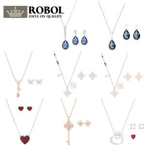 Alta qualidade original swa xl037 qualidade superior colar brinco moda elegante conjunto mulher jóias presente frete grátis