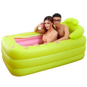 256 Inflatable Bathtub Folding Adult Bathtub Household Whole Body Double Mandarin Duck Bathing Large Portable Plastic