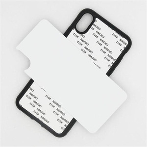Sıcak Boş 2D Süblimasyon Durumda TPU + PC Isı Transferi Telefon Kılıfları Ful Kapak Için iPhone 12 Mini 11 Pro Max için Samsung Için Alüminyum Ekler