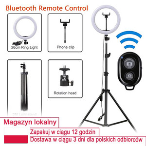Low cost LED Video Ring Light with 2M Tripod Stand Phone Holder Selfie Ringlight YouTube Makeup Video Live Lighting Stock