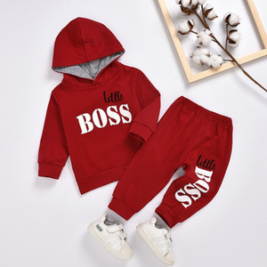 Children Clothes Autumn Winter Baby Boys Clothes Sets Long Sleeve Hoodie+Pants Sports Suit Kids Clothes For Toddler Boys Outfits Y1113