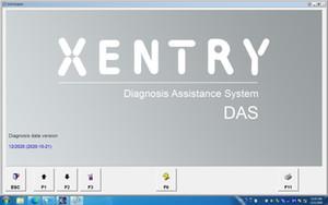 Versão mais recente MB STAR C4 C5 Software 320GB HDD Disco Rígido 2020.12 Windows10 Sistema Star Diagnóstico Suporta DTSVediamo