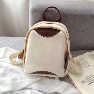 Luxury Mini Backpack Women Designer Leather Panelled Small Cute Backpack In 30cm Multi-pockets Back Pack Bags for Women Mochila