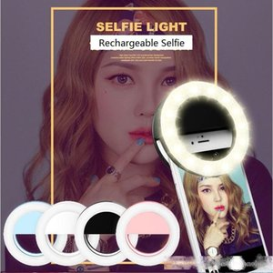 Selfie universale Ricaricabile Selfie Portable LED Telefotography Photography Ring Light Photography Photography per iPhone x 8 7 6 5 Samsung Xiaomi