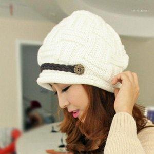 Women's Fashion Braided Autumn Winter Warm Baggy Beanie Knit Crochet Hat Cap1