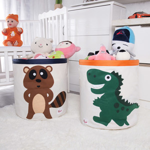 2020 New Cartoon Canvas Fabric Storage Box Folding Sundries Storage Basket For Kid Toys Organizers Dirty Clothes Laundry Basket Z1123