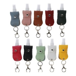 Portable 50ml Spray Bottle Travel Mister Bottle With Leather Keychain Holder Porta jllOnC