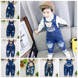 Toddler Clothes Infant Boy Jeans Jumpsuit Baby Girls Suspender Pants Designer Trousers Children Denim Overalls 14 Designs 4200